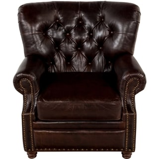 Safavieh Couture High Line Collection Elliott Cocoa Leather Chair