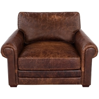 Safavieh Couture High Line Collection Walter Cocoa Leather Chair