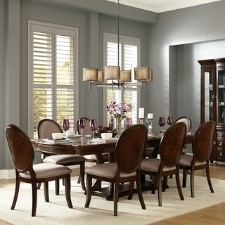 verdiana rich brown cherry finish extending dining set by inspire q classic