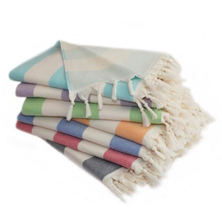 Authentic Hotel and Spa Cabana Stripe Pestemal Fouta Turkish Cotton Bath/Beach Towel (3 options available)