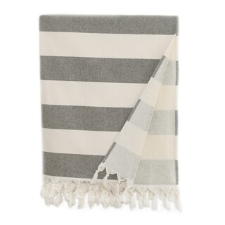 Authentic Hotel and Spa Cabana Stripe Pestemal Fouta Turkish Cotton Bath/Beach Towel