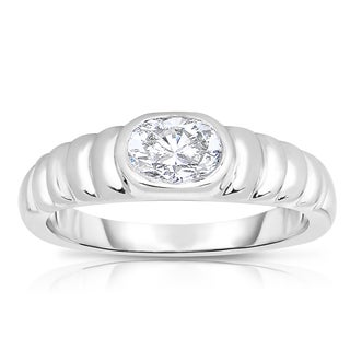 Eloquence Platinum 5/8ct TDW Oval Solitaire Diamond Ring - White H-I (5 options available)
