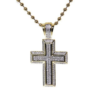 Sterling sliver 1/2ct TDW Diamond Cross Pendant