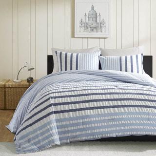 Porch & Den Menahan Blue Comforter 3-piece Set