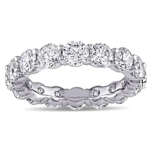 Miadora Signature Collection 18k White Gold 5ct TDW Diamond Eternity Ring