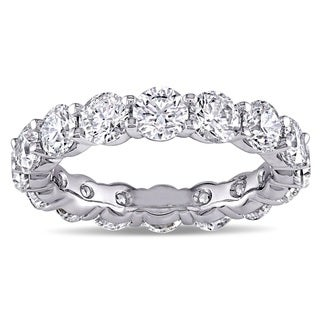 Miadora Signature Collection 18k White Gold 5ct TDW Diamond Eternity Ring