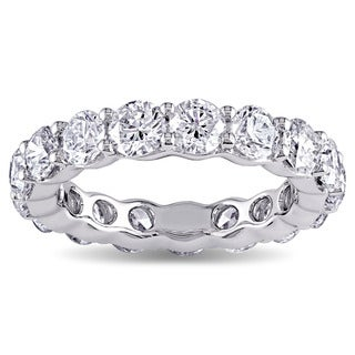 Miadora Signature Collection 18k White Gold 4ct TDW Diamond Eternity Ring