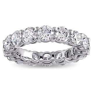 Miadora Signature Collection 18k White Gold 3 3/4ct TDW Diamond Eternity Ring