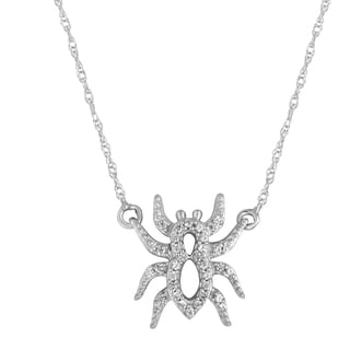 Sterling Silver 1/10ct TDW Diamond Spider Pendant (H-I, I2-I3)