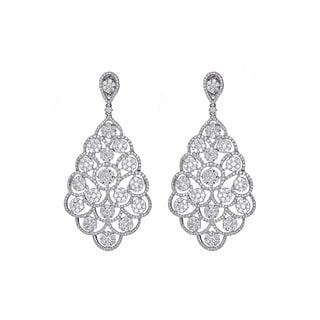 18k White Gold 9 1/2ct TDW Diamond Dangle Earrings (H-I, VVS1-VVS2)
