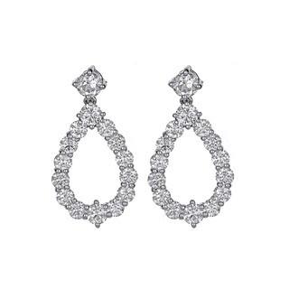 18k White Gold 5 5/8ct TDW Diamond Dangle Earrings (H-I, VVS1-VVS2)