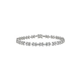18k White Gold 4 1/3ct TDW Diamond Tennis Bracelet (H-I, SI1-SI2)