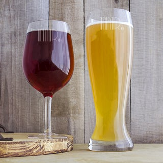 Mr. and Mr. Gatsby XL Beer and Wine Glass Set