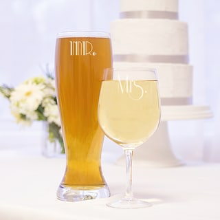 Mr. and Mrs. Gatsby XL Beer and Wine Glass Set