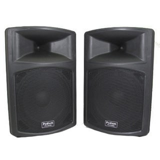 Podium Pro PP1503A Pair 1800 Watts DJ PA Karaoke Powered 15-inch Speakers PP1503A-PR