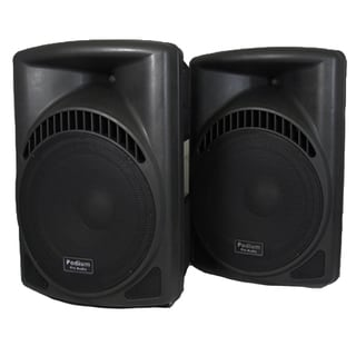 Podium Pro PP1504CD Band DJ PA Active 1800W Powered 15-inch Speakers w/ Flash Drive PP1504CD-PR