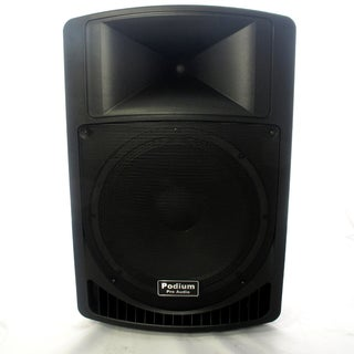 Podium Pro Audio PP1506A Battery Powered PA DJ 15-inch Active Speaker MP3 Player 900 Watt