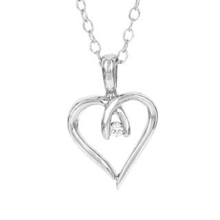 H Star Sterling Silver Diamond Accent Mini Heart Pendant (I-J, I-2, I-3)