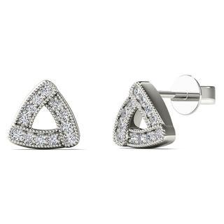 10k White Gold 0.1ct TDW Diamond Triangle Stud Earrings (H-I, I1-I2)