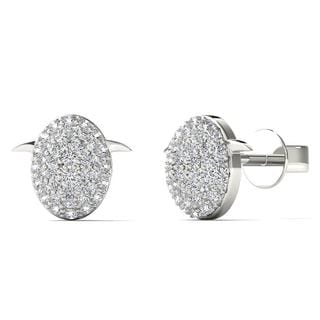10k White Gold 0.2ct TDW Diamond Fashion Stud Earrings (H-I, I1-I2)