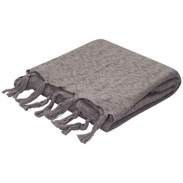 Gray Cotton Throw (50 x 60 inches)