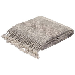 Gray/Taupe Wool Throw (50 x 60 inches)