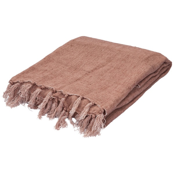 Red Linen Throw (51 x 67 inches)