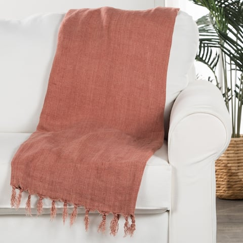 Red Linen Throw