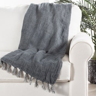 Blue Linen Throw (51 x 67 inches)