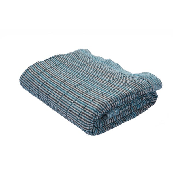 Blue/Gray Cotton Throw (50 x 60 inches)