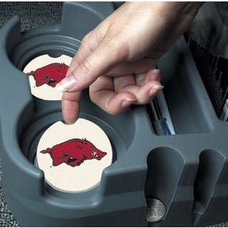 Arkansas Razorbacks Absorbent Stone Car Coaster (Set of 2)