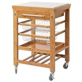 Rina Bamboo Kitchen Cart, Granite Top|https://ak1.ostkcdn.com/images/products/11158048/P18154288.jpg?impolicy=medium