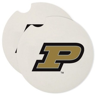 Purdue Boilermakers Absorbent Stone Car Coaster (Set of 2)