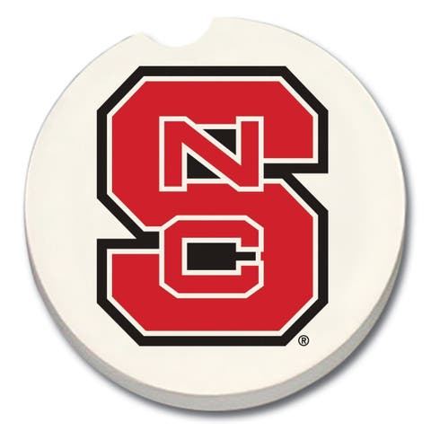North Carolina State Wolfpack Absorbent Stone Car Coaster (Set of 2)