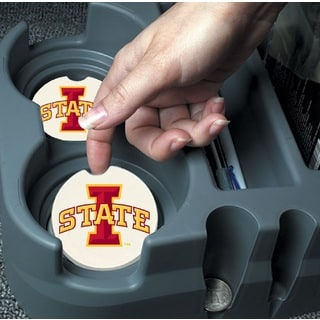 Iowa State Cyclones Absorbent Stone Car Coaster (Set of 2)