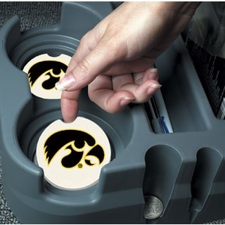 Iowa Hawkeyes Absorbent Stone Car Coaster (Set of 2)