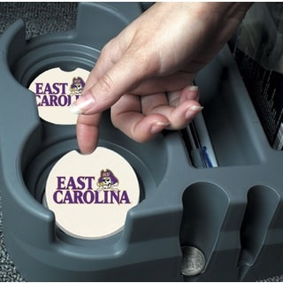 ECU East Carolina Pirates Absorbent Stone Car Coaster (Set of 2)