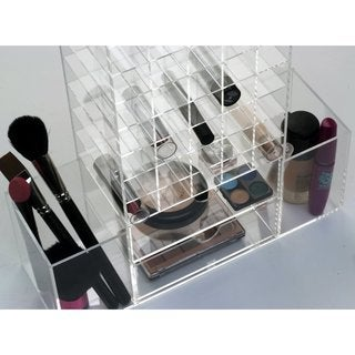 Ikee Design All-In-One Premium Acrylic Cosmetic Organizer Unit