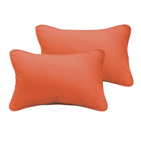 Sloane Mandarin Orange 13 x 20-inch Indoor/ Outdoor Pillow Set