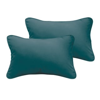 Sloane Teal 13 x 20-inch Indoor/ Outdoor Pillow Set