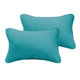 Sloane Aqua Blue 13 x 20-inch Indoor/ Outdoor Pillow Set