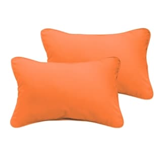 Sloane Bright Orange 13 x 20-inch Indoor/ Outdoor Pillow Set