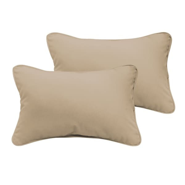 Sloane Beige 13 x 20-inch Indoor/ Outdoor Pillow Set