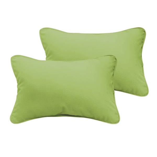 Sloane Apple Green 13 x 20-inch Indoor/ Outdoor Pillow Set