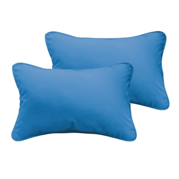 Sloane Light Blue 13 x 20-inch Indoor/ Outdoor Pillow Set