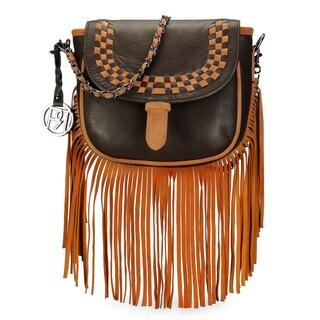 Handmade Phive Rivers Women's Crossbody Bag (Brown) (PR1072) (Italy)