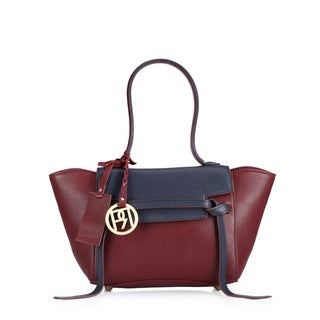 Handmade Phive Rivers Women's Satchel Bag (Burgundy) (PR1052) - One size (Italy)