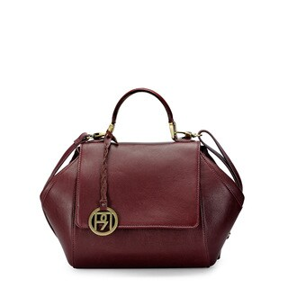 Handmade Phive Rivers Women's Satchel Bag (Burgundy) (PR1063) - One Size (Italy)