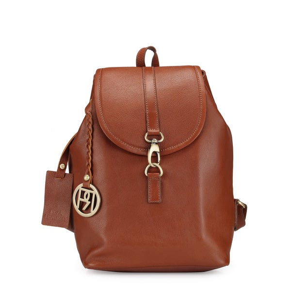 Handmade Phive Rivers Women's Backpack (Tan) (PR1035) (Italy) - One Size