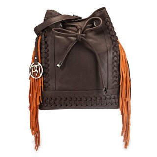 Handmade Phive Rivers Women's Suede Fringe Leather Shoulder Bag (Italy)